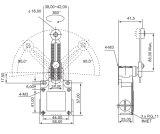 Shell van het metaal de Types van Rollen van de ElektroSchakelaar van de Grens (csa-031)