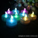 7 цветастых свечек тесемки батареи пламени СИД Tealights изменения