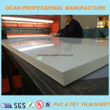 표준 크기 4*8 발 350 Mircon 샌드위치 위원회를 위한 백색 광택 있는 엄밀한 PVC 장