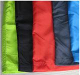 Poncho relativo à promoção da chuva do PVC da cor verde para crianças ou adulto