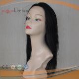 Людской парик шнурка цвета черноты волос девственницы Remy связанный рукой