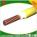 Câble de PVC d'isolation de PVC d'âme massive du câble plat BVV