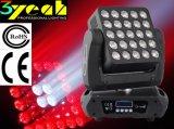 25PCS LED 이동하는 맨 위 매트릭스 광선 단계 빛