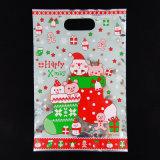 Saco do presente da embalagem de Cooike dos doces do saco de plástico da selagem do Natal
