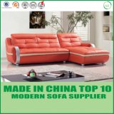 L sofa en cuir sectionnel moderne de forme