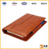 PU promocional Leather Notebook Caso con la ranura para tarjeta