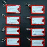 Etiqueta dominante plástica barata al por mayor, etiqueta de la identificación