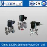 Vanne électromagnétique de bride d'acier inoxydable de prix bas avec l'usine de la Chine