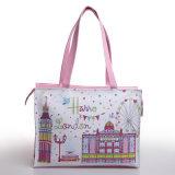Bolso impermeable de las señoras de bolso de compras del PVC de la manera rosada (H006)
