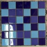 Mattonelle di mosaico di ceramica blu per la piscina