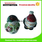 Sale del pupazzo di neve e bottiglia di ceramica del pepe per la bottiglia della salsa dell'articolo da cucina