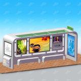 Kundenspezifische im Freienmöbel-Metalzelle, die Bushaltestelle-Schutz mit Abfalleimer bekanntmacht