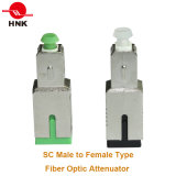 FC/Sc/St/LC/Mu Singlemode Multimode Male zu Female Fix Fiber Optic Attenuator