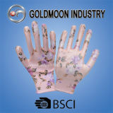 Цветастые перчатки Gmnr010 нитрила отпечатка
