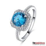 Venta al por mayor de piedra del anillo de bodas de las mujeres del Aquamarine (CRI0342-B)