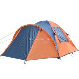De goedkope Waterdicht makende Tent van de dubbel-Laag, de Sinaasappel van Persoon 3-4 kampeert Tent