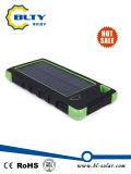 Mini carregador solar do banco portátil da potência do USB 6000mAh