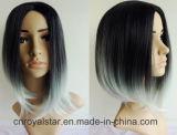 2016 Nuevo estilo de degradado pelo peluca sintética