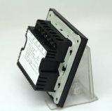 Interruptor eléctrico ligero intermedio del botón del vidrio Tempered 1-Gang con el contraluz del LED
