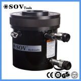 Cilindro hidráulico do atuador oco ativo dobro