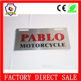 Logotipo personalizado de metal impreso placa de matrícula de metal