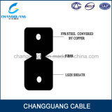 Curvar-Tipo da iluminação interna do cabo da fibra óptica do cabo pendente lista do cabo da fibra de GJXFH de preço de fibra óptica plástica da compra do Internet do cabo