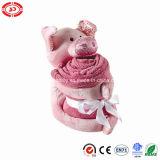 Cobertura de porco Soft Baby Blanket Pink Fleece En71 Gift Set