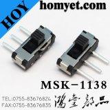 長いフィートの3pinのすくいのスライドスイッチ/Side押しの二段式トグルスイッチ(MSK-1138)