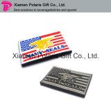 Персонализированный утюг сплетенный национальным флагом на значке вышивки заплаты