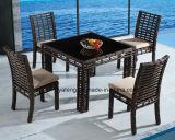 Cadeira & tabela ao ar livre de alumínio do Rattan do lado da associação do hotel que jantam o jogo (YT607)
