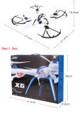 Tarantula X6 RC Quadcopter de compas gyroscopique de l'axe 2.4G 6 avec l'appareil-photo de 2.0MP HD
