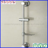 Coluna de bronze fixada na parede do chuveiro da barra de deslizamento do chuveiro com o prato de sabão pelo cromado chapeado