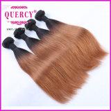 2016熱い販売のブラジルのOmberカラー毛のよこ糸、8-32インチの自然なバージンの人間の毛髪