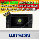 Auto DVD GPS des Witson Android-5.1 für Ford Focus 2012 mit Chipset 1080P 16g Support des ROM-WiFi 3G Internet-DVR (A5629)