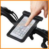 360度の回転バイクの自転車のハンドルバーの台紙のホールダーの防水電話袋