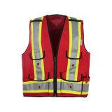Veste reflexiva CSA Z9609 da segurança da visibilidade elevada