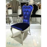Rotes PU-Kissen-Metall, das Stuhl mit Kristalltaste (HW-0400C, speist)