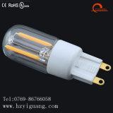 Lámpara del bulbo G9 del filamento de las ventas directas G9 LED de la fábrica con la UL de RoHS del Ce