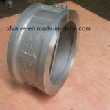 Type clapet anti-retour de disque d'extrémité de bride de guindineau de disque de double