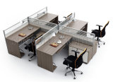 Poste de travail commercial classique des meubles de bureau 4-Seater avec la partition élevée (SZ-WS312)