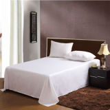 100% Algodão Embroidery Luxury Hotel White Hotel Duvet Cover Set Qualidade King Cama Queen Size (DPFB8091)