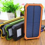 Caricabatteria solare, caricatore portatile del telefono di Hallomall 15000mAh con 6LED la torcia elettrica, la Banca esterna Port doppia di energia solare del caricabatteria del USB per i telefoni astuti C