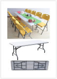 Wedding、Banquet、Party、Camping、Picnic、Catering、Barbecueのための8ft 96inch Long Plastic Folding Dining Table