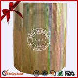 Holográfica plástico Jumbo Roll para embalaje de regalo
