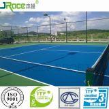 Superfície excelente da corte do esporte da tampa da corte de tênis do plutônio do silicone do efeito do coxim