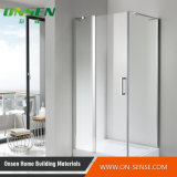 Cabine Walk-in de alumínio do chuveiro da porta para o banheiro