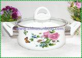 [سونبوأت] [18كم] زهرات خزي مينا لبن حوض طبيعيّ مينا إناء حساء إناء طبّاخ إناء