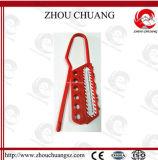 Hasp de nylon do fechamento da cor vermelha usado com o cadeado colorido da segurança