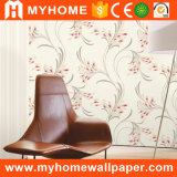 Beau papier peint de maison de modèle de paon pour la décoration