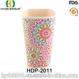Tazza di bambù organica della fibra di certificazione di FDA/LFGB (HDP-2011)